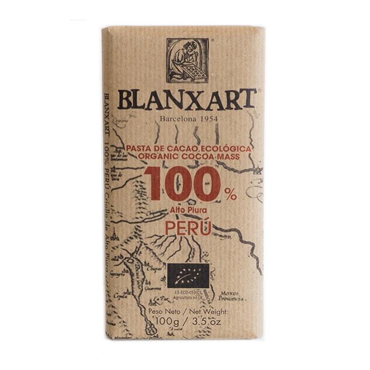 Blanxart Organic Peru Dark 100% Chocolate 100g