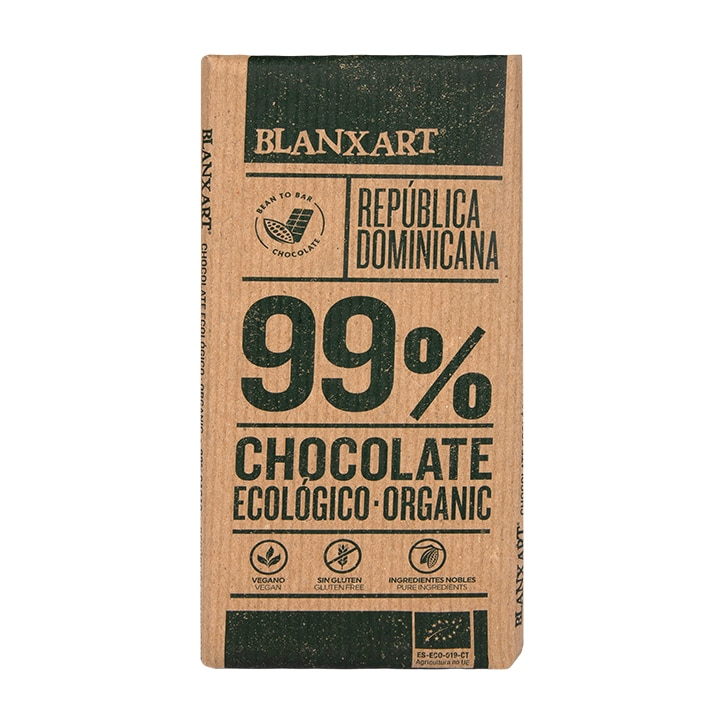 Blanxart Organic Dominica Dark 99% Chocolate 80g