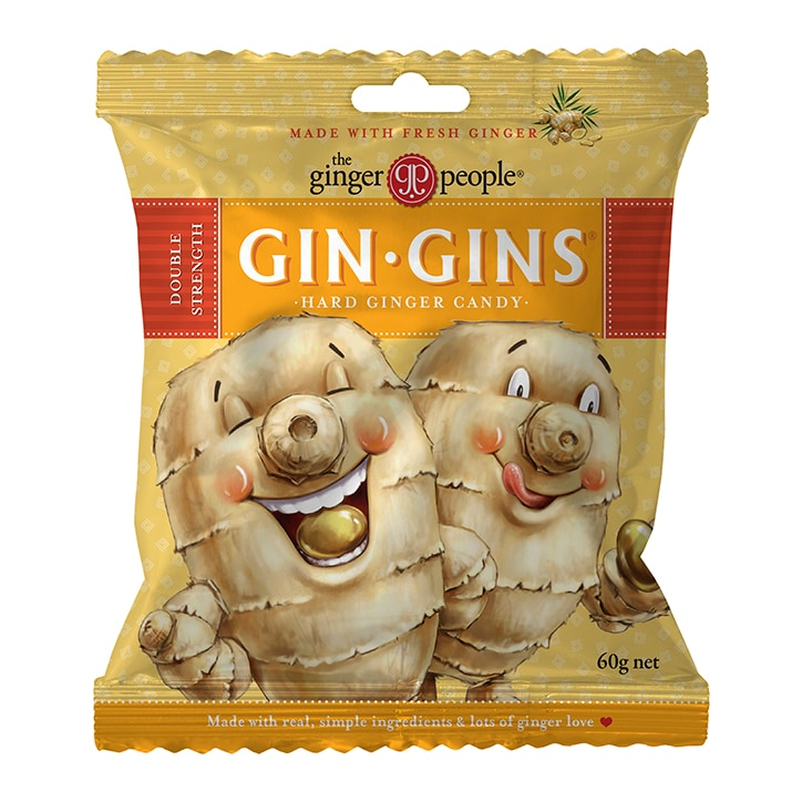 The Ginger People Gin Gins Hard Boiled Candy Bag