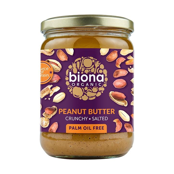 Biona Peanut Butter - Crunchy Sea Salt 500g