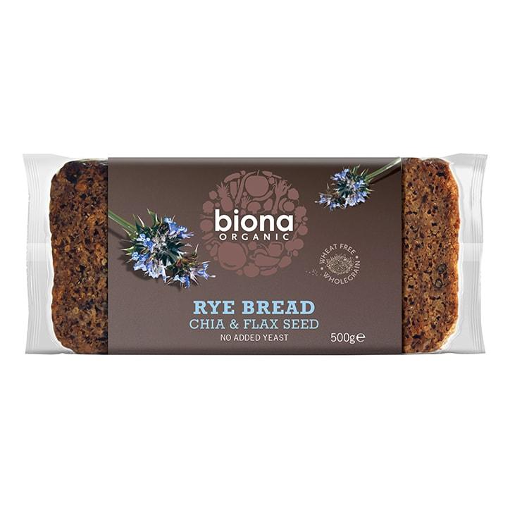 Biona Rye Chia & Flaxseed Bread 500g