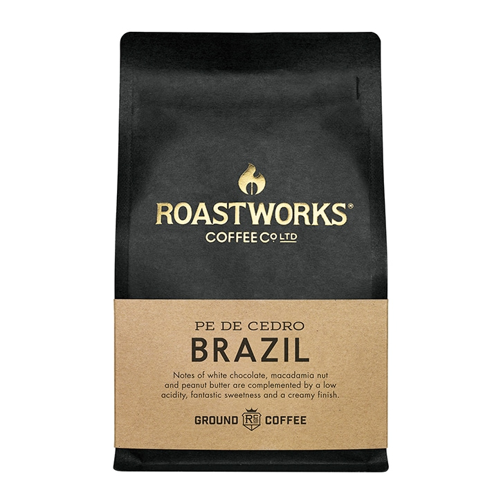 Roastworks Coffee Co Ltd. Brazil Ground Coffee 200g