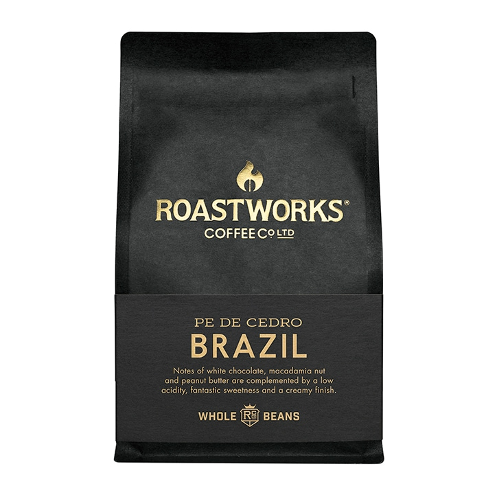 Roastworks Coffee Co Ltd. Brazil Whole Beans 200g