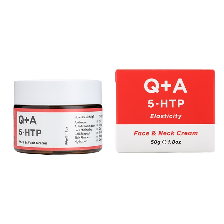 Q+A Natural Skincare 5-HTP Face & Neck Cream 50g