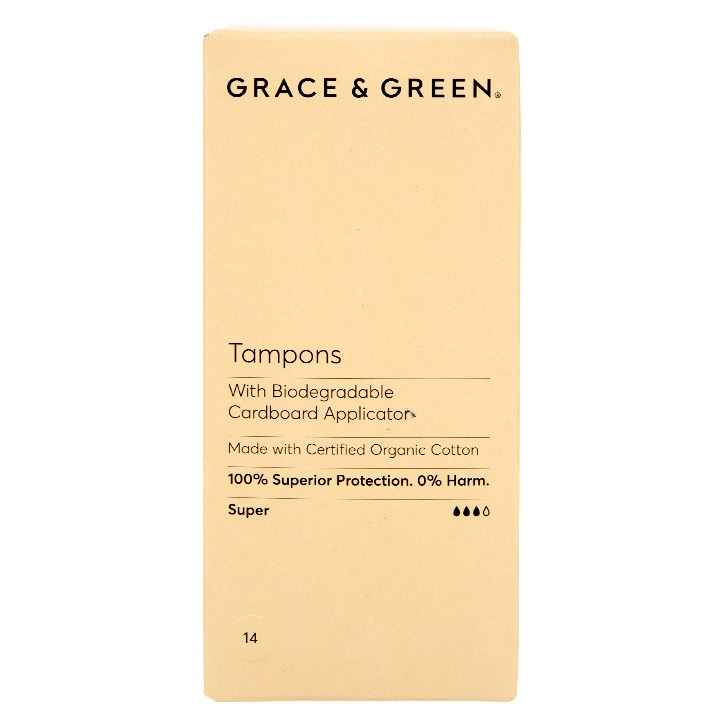 Grace & Green Applicator Tampons - Super 14 pack
