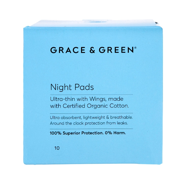 Grace & Green Night Pads 10 pack