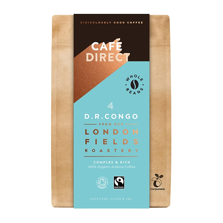 Cafédirect Congo Organic Coffee Beans 200g