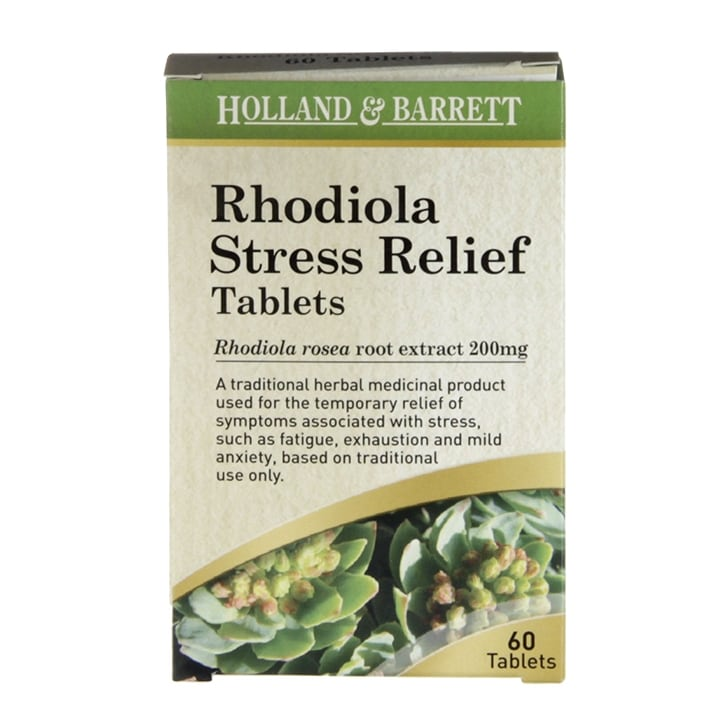 Holland & Barrett Rhodiola Stress Relief 60 Tablets 200mg