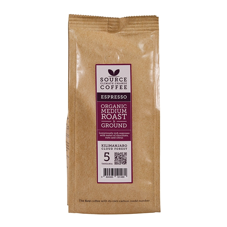 Source Climate Change Coffee Kilimanjaro Roast & Ground 227g