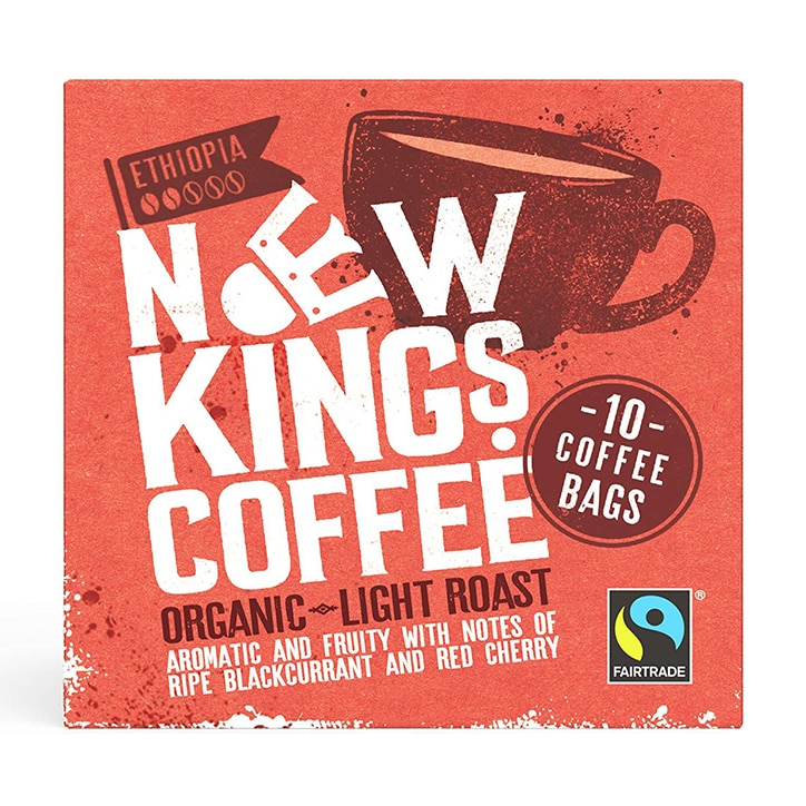 New Kings Coffee Organic Light Roast Coffee Bags 80g
