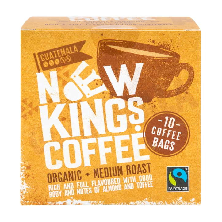 New Kings Coffee Organic Mid Roast Coffee Bags 80g