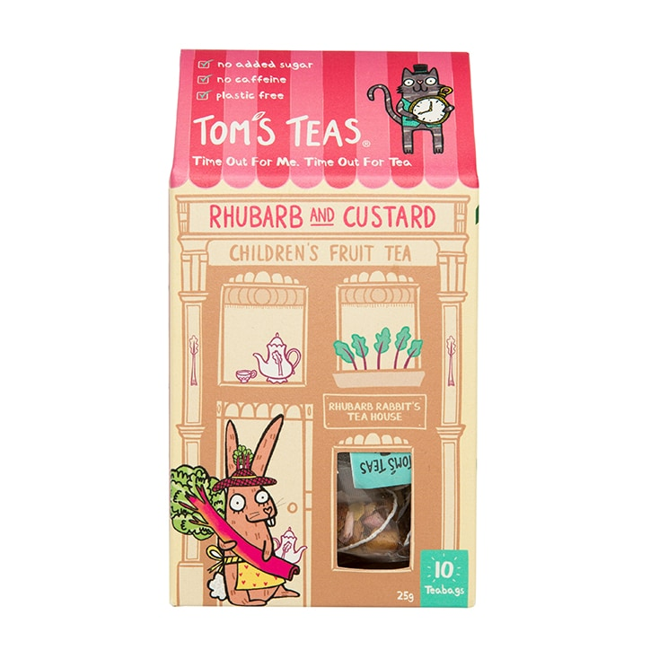 Tom's Teas Children's Tea (Hot or Cold Brew) Rhubarb & Custard
