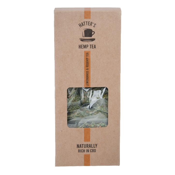 Hatters Hemp Tea Lemongrass & Rosehip 20 Bags