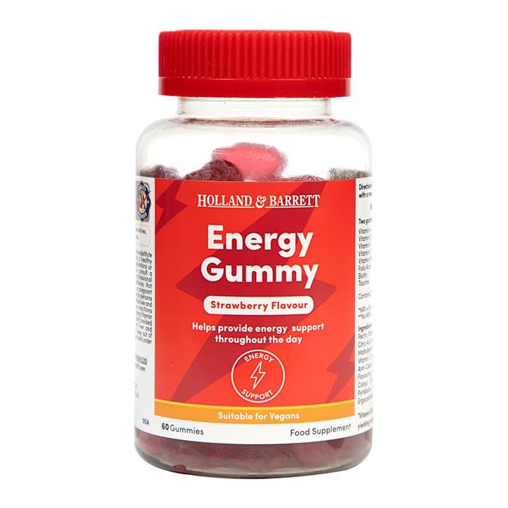 Holland & Barrett Energy Strawberry Flavour 60 Gummies