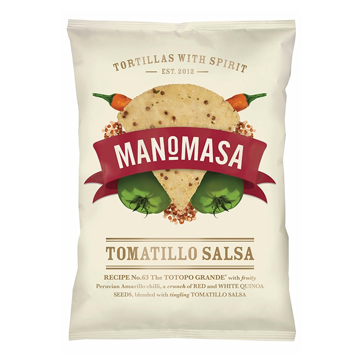 Manomasa Tomatillo Salsa Tortilla Chips 160g