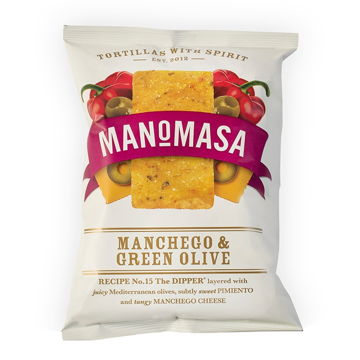 Manomasa Manchego & Green Olive Tortilla Chips 160g