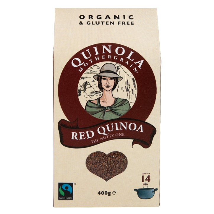 Quinola Organic & Fairtrade Red Quinoa 400g