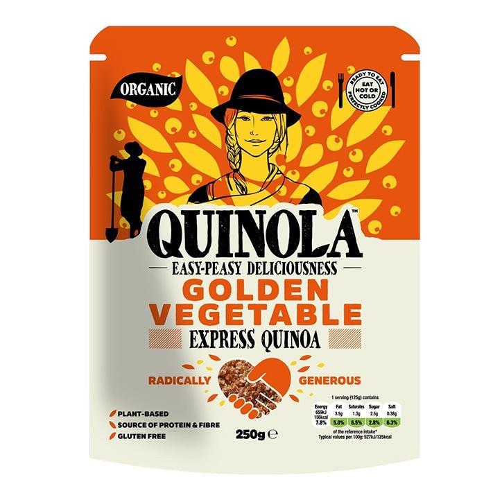 Quinola Organic Express Quinoa - Golden Vegetables 250g