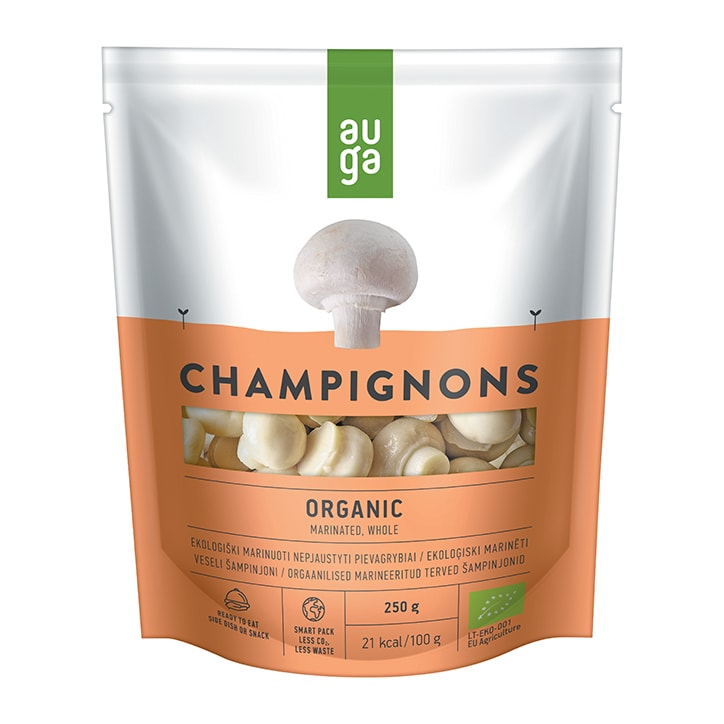 Auga Organic Marinated Whole Champignons 250g