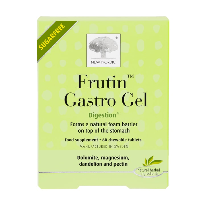 New Nordic Frutin Gastro 60 Gel Chewable Tablets