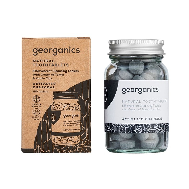 Georganics Toothpaste Tablets - Activated Charcoal 120 tablets