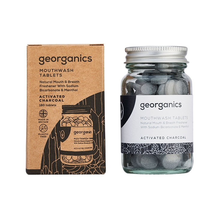 Georganics Mouthwash Tablets - Activated Charcoal 120 tablets