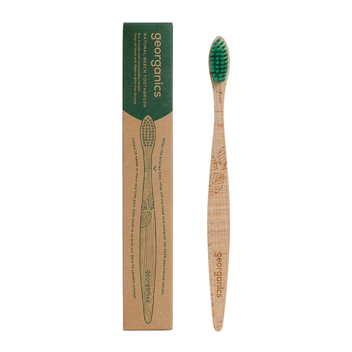 Georganics Beechwood Toothbrush - Medium