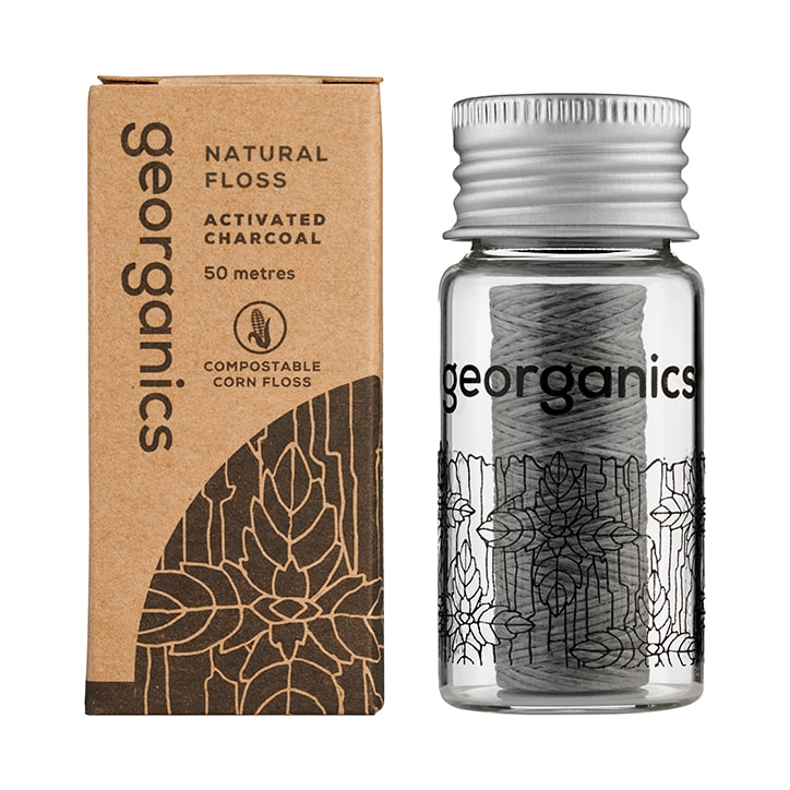 Georganics Natural Floss - Charcoal
