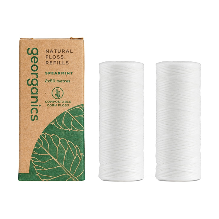 Georganics Natural Floss Refill - Silk Spearmint