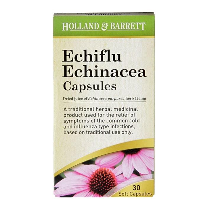 Holland & Barrett  Echiflu Echinacea 30 Capsules
