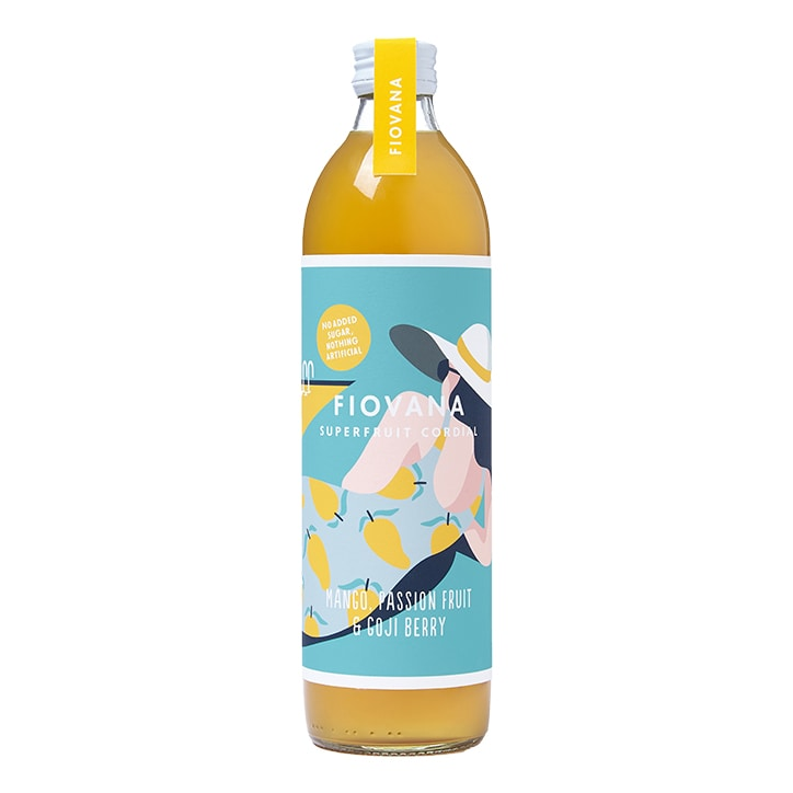 Fiovana Mango, Passion Fruit & Goji Berry Superfruit Cordial