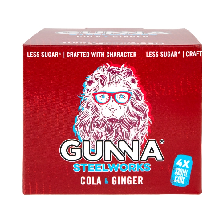 Gunna Steelworks Cola & Ginger 4 x 330ml