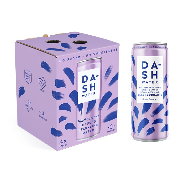 Dash Water Blackcurrant 4 x 330ml