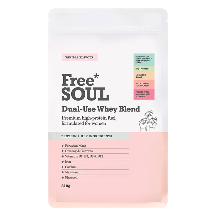 Free Soul Dual Use Blend Whey Vanilla 510g