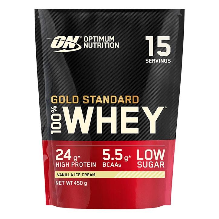 Optimum Nutrition Gold Standard 100% Whey Powder Vanilla Ice Cream 450g