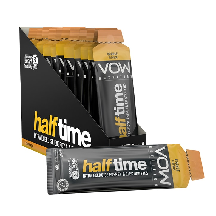Vow Nutrition Half Time Gel Orange Box 12 x 60g