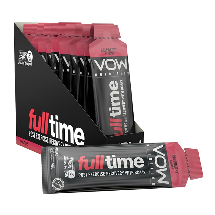 Vow Nutrition Full Time Gel Raspberry Box 12 x 60g