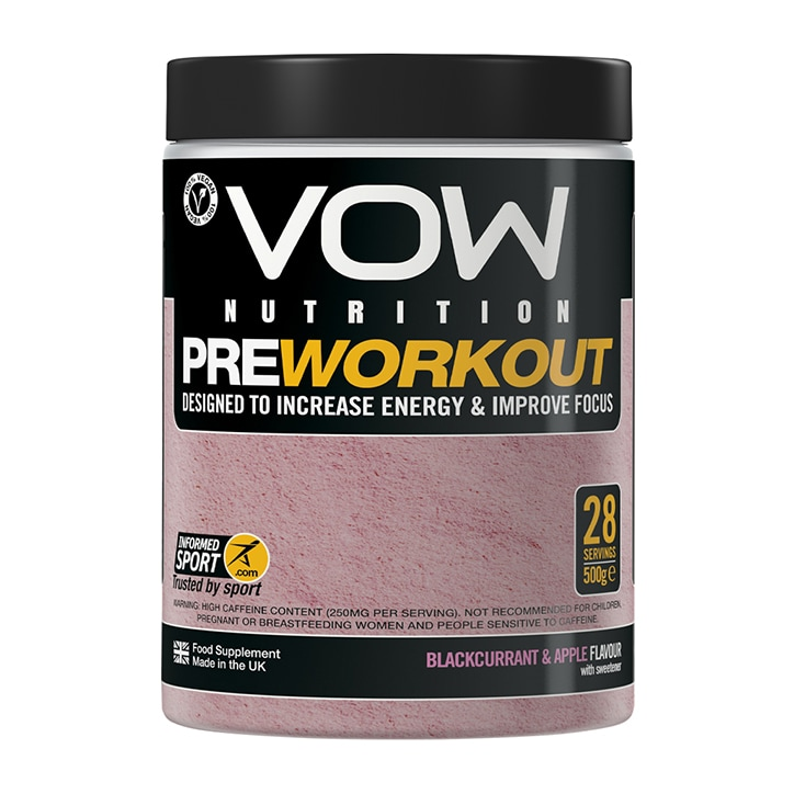 Vow Nutririon Pre Workout Blackcurrant & Apple 500g