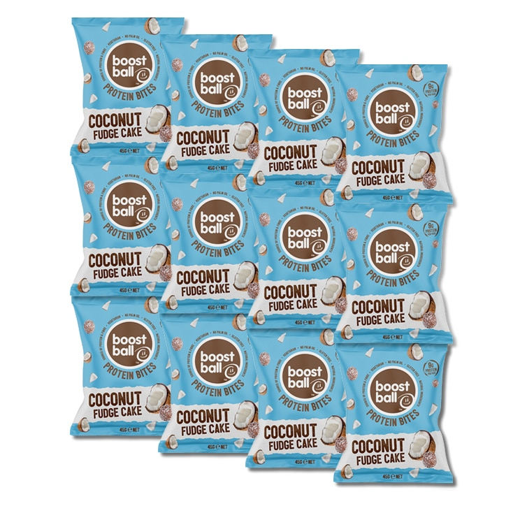 Boost Ball Protein Bites Coconut Fudge 12 x 45g