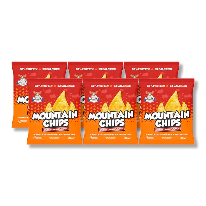 Moose Muscle Protein Crisps Chilli Box 6 x 23g