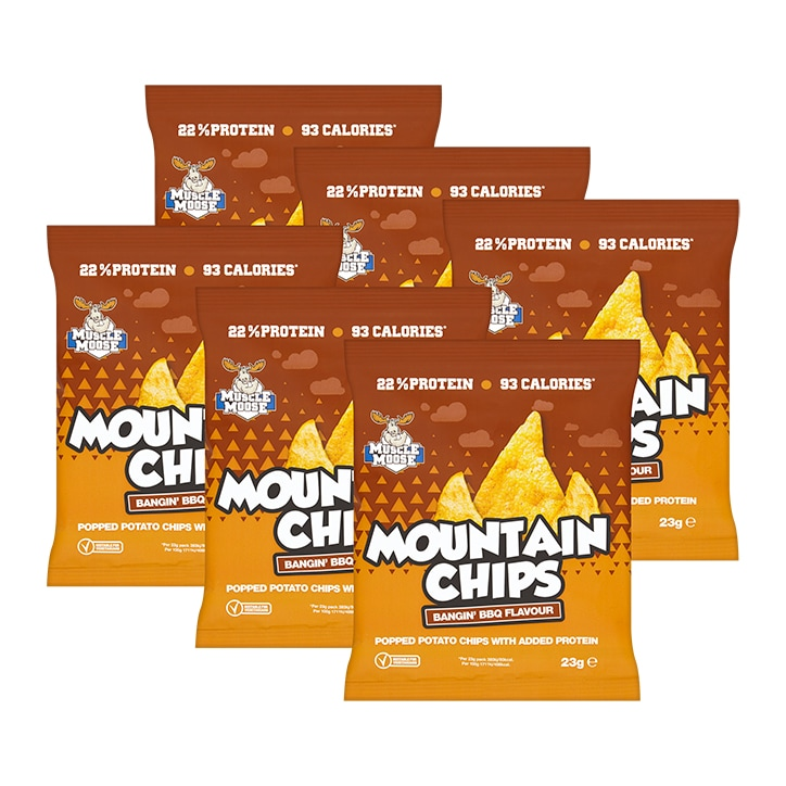 Muscle Moose Protein Crisps BBQ 6 x 23g
