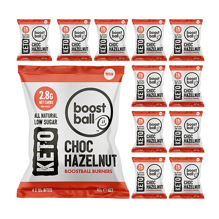 Boostball Keto Choc Hazelnut 12 x 40g