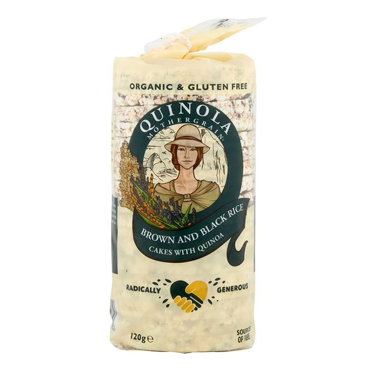 Quinola Mothergrain Organic Black & Brown Rice Cakes 120g