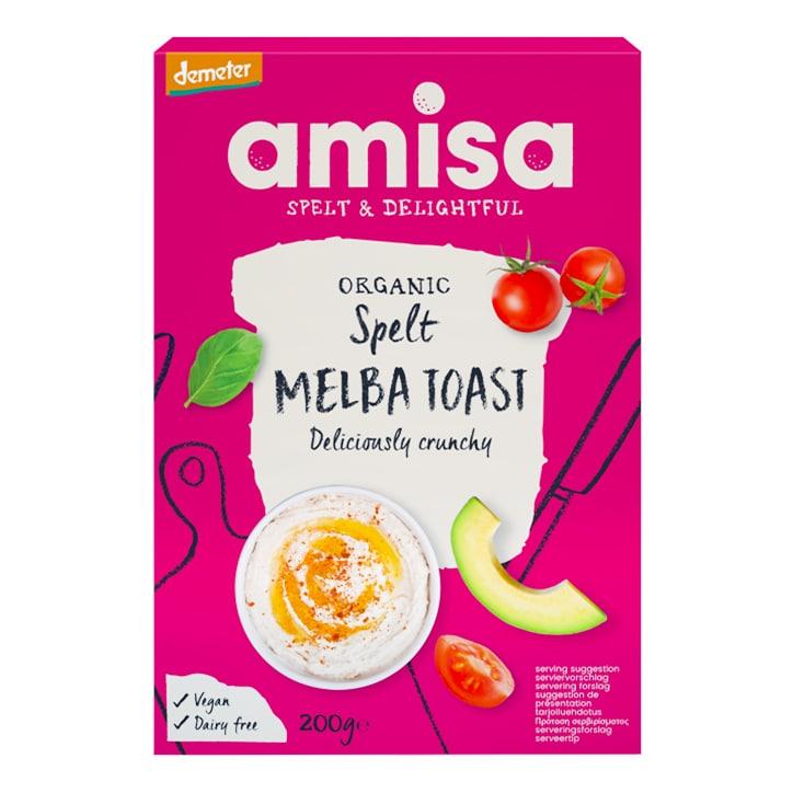 Amisa Organic Spelt Melba Toast 200g