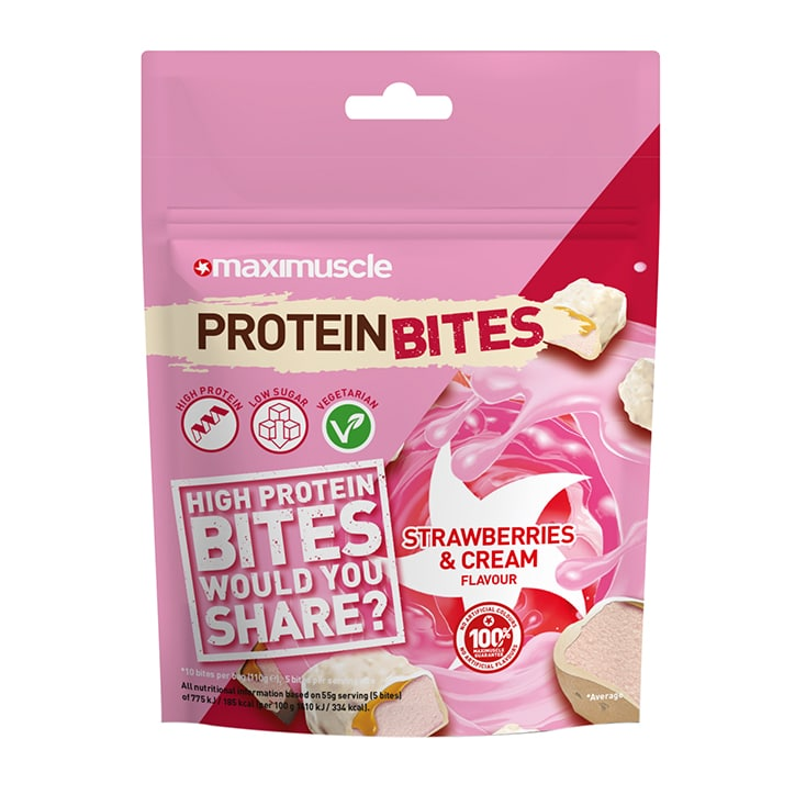 MaxiMuscle Protein Bites Strawberries & Cream 110g