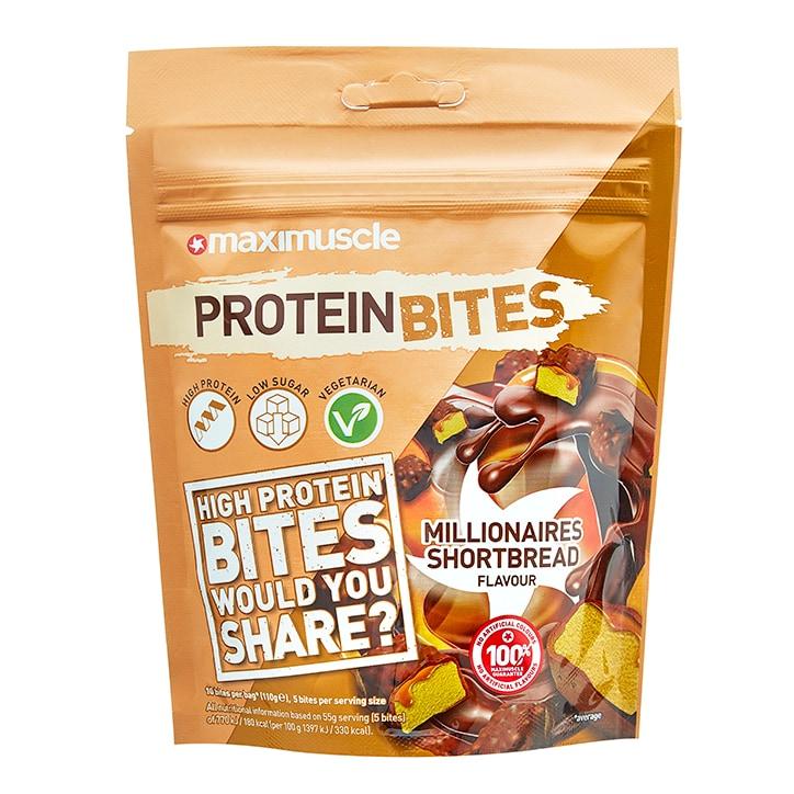 MaxiMuscle Protein Bites Millionaires Shortbread 110g