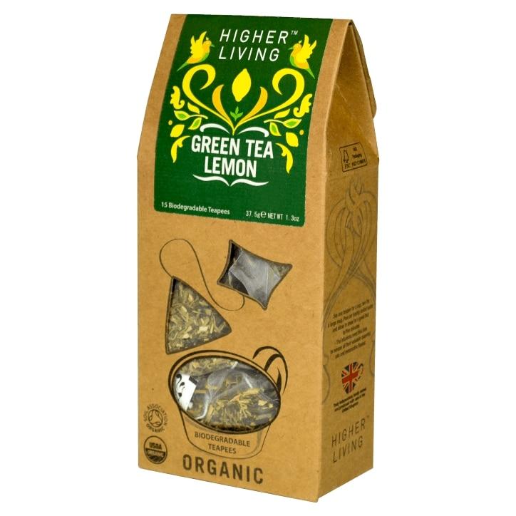 Higher Living Green Tea Lemon 15 Tea Bags