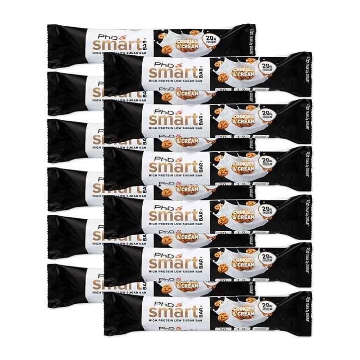 PhD Smart Bar Cookies & Cream 12 x 64g