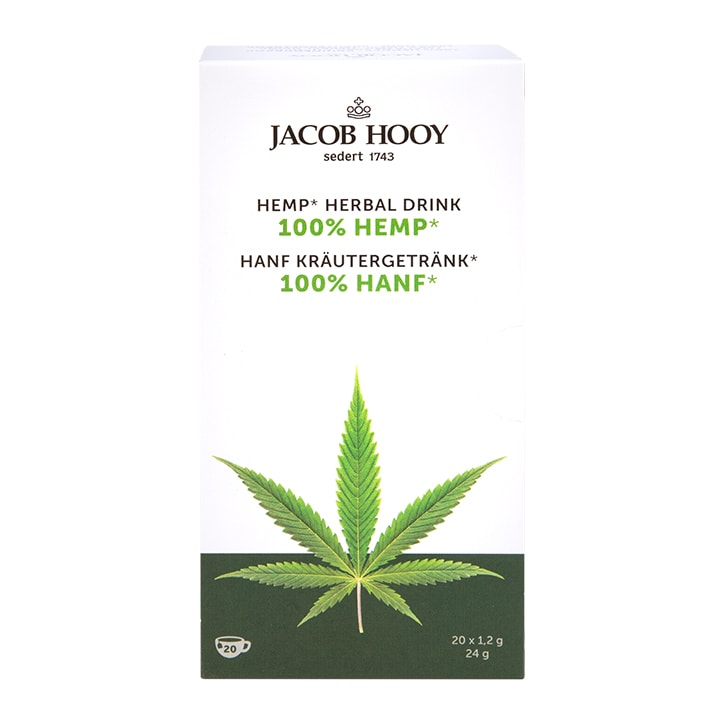 Jacob Hooy Hemp 20 Herbal Tea Bags