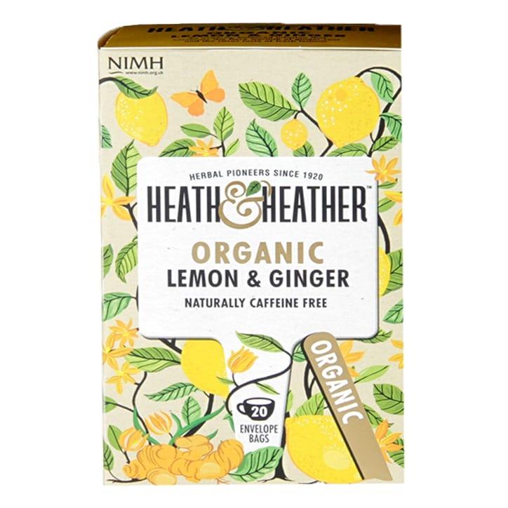 Heath & Heather Organic Lemon & Ginger 20 Tea Bags